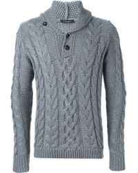Roberto Collina - Cable Knit Jumper - Lyst