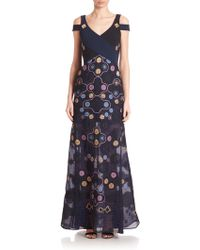 Peter Pilotto | Pythia Embroidered Cold-shoulder Gown | Lyst
