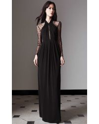 Alice By Temperley Long Draped Amber Dress black - Lyst