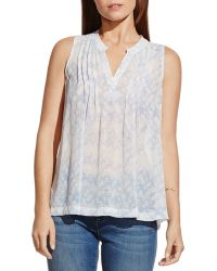 Two By Vince Camuto - Pintuck Sleeveless Blouse - Lyst