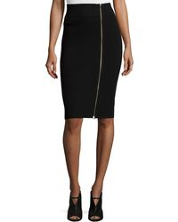 Todd And Duncan - Cashmere Ribbed Zip-front Skirt - Lyst