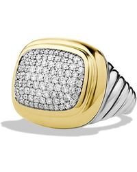 David Yurman Waverly Ring with Diamonds and Gold - Lyst