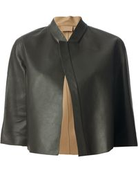 Brunello Cucinelli Black Cropped Cape - Lyst