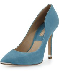 Michael Kors Avra Suede Point-toe Pump - Lyst