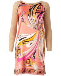 Emilio Pucci Contrast Sleeve Dress - Lyst