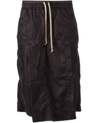 DRKSHDW by Rick Owens Front Flap Shorts - Lyst
