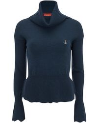 Vivienne Westwood Red Label - Women's Basic Knitted Voluminous Roll Neck Jumper - Lyst