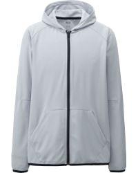 Uniqlo Men Dry Ex Full Zip Hooded Jacket - Lyst