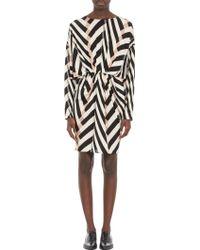 Lanvin Mixed-Stripe Tunic Dress - Lyst