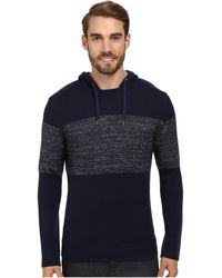 Calvin Klein Jeans 7gg Parallel Knit Colorblocked Hoodie - Lyst