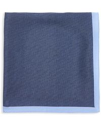 Calibrate - 'yeats' Dot Silk Pocket Square - Lyst