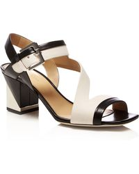Sergio Rossi Zed Twotone Leather Sandals - Lyst