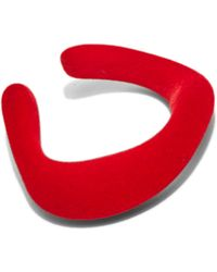 Ribeyron - Unisex Flocked Thick Bangle In Red - Lyst