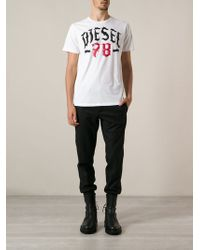 Diesel Logo Print Tshirt - Lyst