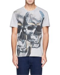Alexander McQueen Brutalist Print T-Shirt multicolor - Lyst