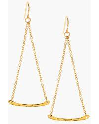 Gorjana Women'S 'Taner' Hammered Bar Drop Earrings - Gold - Lyst