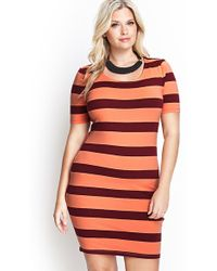 Forever 21 Out At Sea Bodycon Dress - Lyst