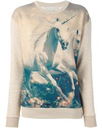 Stella McCartney Unicorn Print Sweatshirt - Lyst