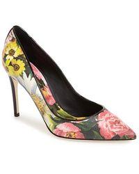 Dolce & Gabbana 'Peony' Pointy Toe Pump - Lyst