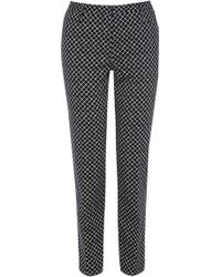 Oasis Diamond Geo Print Trousers - Lyst