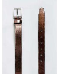TOPMAN - Bronze Metallic Belt - Lyst