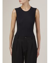 Maison Margiela | black Black Sleeveless Body Suit | Lyst