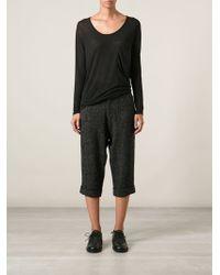 Yohji Yamamoto 3/4 Length Pants - Lyst