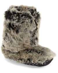 Bedroom Athletics - Cole Faux-Fur Slipper Boots  - Lyst