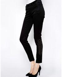 James Jeans Medusa Skinny Black Studded Jeans - Lyst