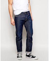 Diesel Jeans Waykee Straight Fit 837N Dark 3D Rinse Wash - Lyst