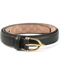 Gucci Black Classic Belt - Lyst