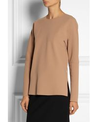 By Malene Birger Calypta Paneled Crepe Top - Lyst