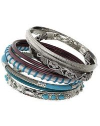 Topshop Mixed Bangle Pack - Lyst