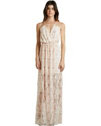 BCBGeneration Floral Surplice Maxi Dress - Lyst