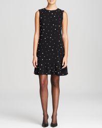Kate Spade Embellished Drop Waist Dress - Lyst