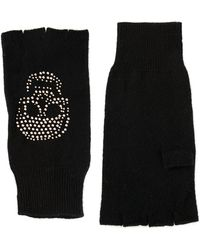 Autumn Cashmere Black Skull Gloves - Lyst
