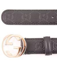 Gucci Black Cintura D - Lyst