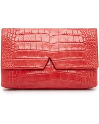 Vince - Croc Embossed Clutch - Lyst