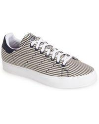 Adidas 'Stan Smith' Canvas Stripe Sneaker blue - Lyst