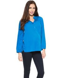 Rosie Pope - Maria Maternity Blouse - Black - Lyst