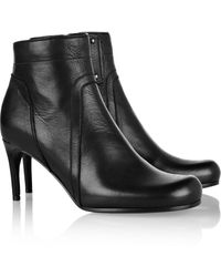 Rick Owens Leather Ankle Boots - Lyst