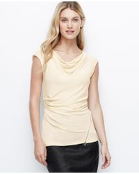 Ann Taylor Crepe Side Zip Top - Lyst