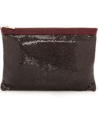 Deux Lux Tiny Dancer Pouch Bordeaux - Lyst