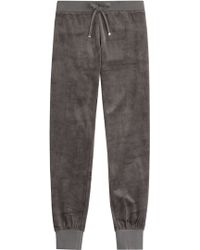 Juicy Couture - Embellished Velour Track Pants - Grey - Lyst