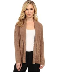 Pendleton Pettie Placed Cable Cardigan - Lyst