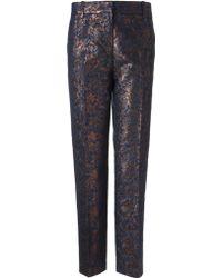 3.1 Phillip Lim Mahogany Wool Pencil Trousers - Lyst