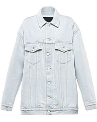 Alexander Wang | Daze Oversized Denim Jacket | Lyst