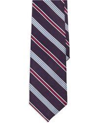 Ben Sherman Purple Striped Tie - Lyst