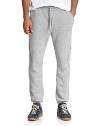 Diesel Cotton Zip Sweatpants gray - Lyst