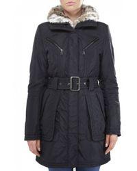 Creenstone Snow Leopard Print Collar Coat - Lyst